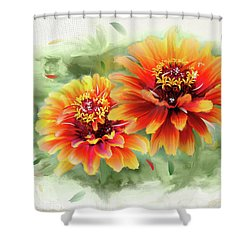 The Couple Shower Curtain by Mary Timman