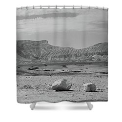 the couple of stones in the desert II Shower Curtain by Yoel Koskas
