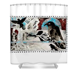 The Courage To Arive In Winter Shower Curtain