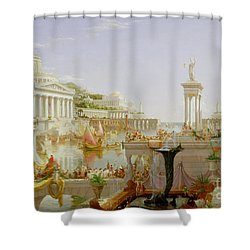 The Course Of Empire - The Consummation Of The Empire Shower Curtain by Thomas Cole