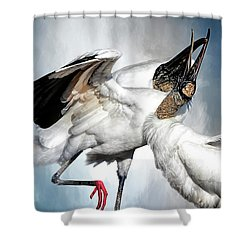 The Courtship Dance Shower Curtain