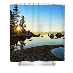 The Cove At Sand Harbor Shower Curtain