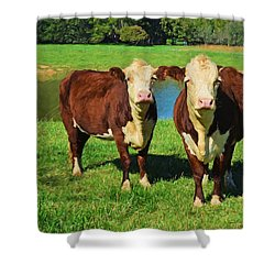 The Cow Girls Shower Curtain