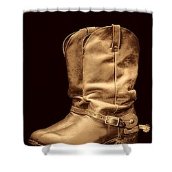 The Cowboy Boots Shower Curtain