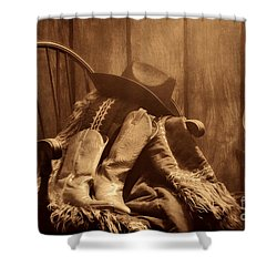 The Cowgirl Rest Shower Curtain by American West Legend By Olivier Le Queinec