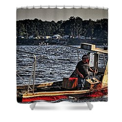 The Crabber Shower Curtain