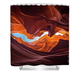 The Crack Shower Curtain by JR Photography
