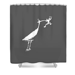 The Crane Shower Curtain by Melany Sarafis