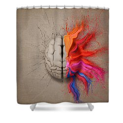 The Creative Brain Shower Curtain by Johan Swanepoel
