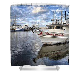 The Crimson Tide Shower Curtain