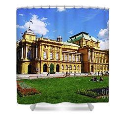 The Croatian National Theater In Zagreb, Croatia Shower Curtain
