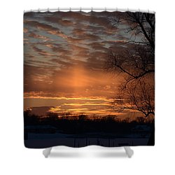 The Cross In The Sunset Shower Curtain