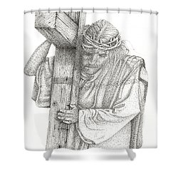 The Cross Shower Curtain by Mayhem Mediums