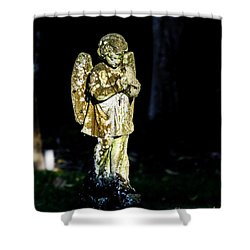 The Cross Neckless  Shower Curtain