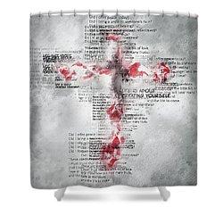 The Cross Speaks Shower Curtain