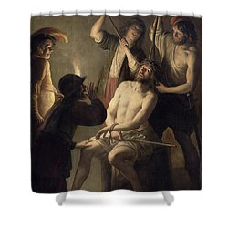 The Crowning With Thorns Shower Curtain by Jan Janssens