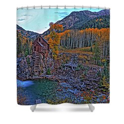 Shower Curtain featuring the photograph The Crystal Mill by Scott Mahon