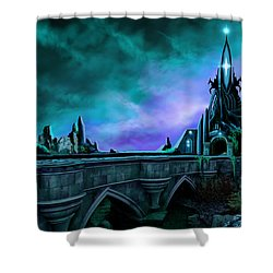 The Crystal Palace - Nightwish Shower Curtain by James Christopher Hill