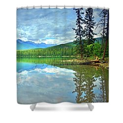 Shower Curtain featuring the photograph The Crystal Waters Of Lake Annette by Tara Turner
