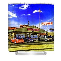 The Cub Shower Curtain by Scott Pellegrin
