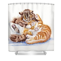 The Cuddly Kittens Shower Curtain