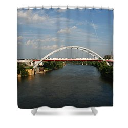 The Cumberland River In Nashville Shower Curtain by Susanne Van Hulst