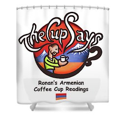The Cup Says Logo Shower Curtain by Renee Womack