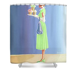 The Cupcake Lady Shower Curtain