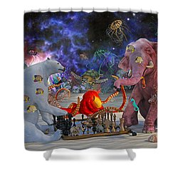 The Curious Game Shower Curtain