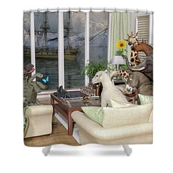 The Curious Room Shower Curtain