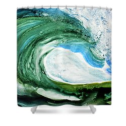 Shower Curtain featuring the painting The Curl by Joan Hartenstein