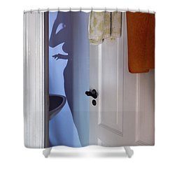 The Curtain Shower Curtain by Michel Verhoef