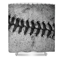 Shower Curtain featuring the photograph The Curve Ball by David Patterson