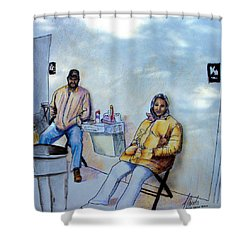 The Custodians Shower Curtain by Albert Puskaric