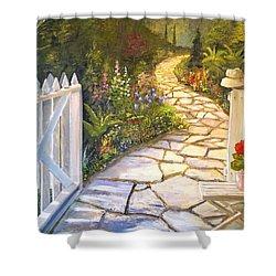 The Cutting Garden Shower Curtain by Alan Lakin
