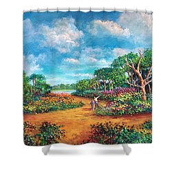 The Cycle Of Life Shower Curtain by Randy Burns