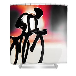 The Cycling Profile  Shower Curtain by David Sutton