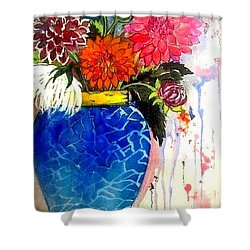 The  Dahlias Shower Curtain