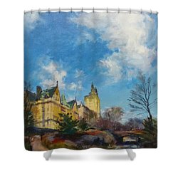 The Bridle Path, Central Park Shower Curtain