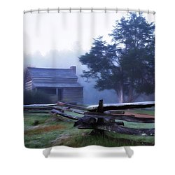 Shower Curtain featuring the photograph The Dan Lawson Place by Lana Trussell