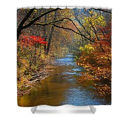The Dan River Shower Curtain by Kathryn Meyer