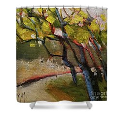 The Dance Abstract Tree Woods Forest Wild Nature Shower Curtain