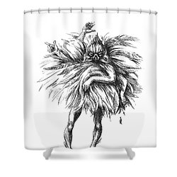 The Dance Macabre Shower Curtain by Yvonne Wright