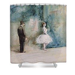 The Dancer Shower Curtain by Jean Louis Forain