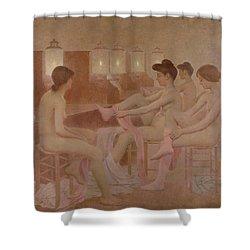 The Dancers Shower Curtain by Fernand Pelez