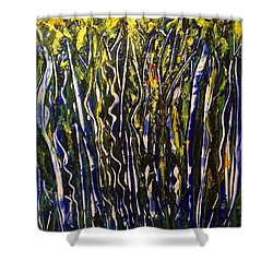 The Dancing Garden Shower Curtain
