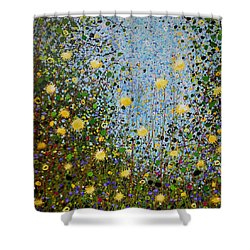 The Dandelion Patch Shower Curtain