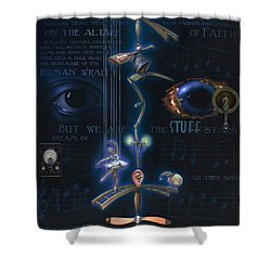 The Danse Macabre Shower Curtain by Patrick Anthony Pierson