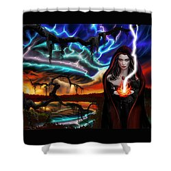 The Dark Caster Calls The Storm Shower Curtain by James Christopher Hill