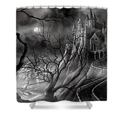 The Dark Castle Shower Curtain by James Christopher Hill